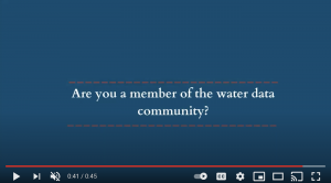 Who is the Water Data Community?